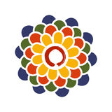Colorful Lotus and Zen circle illustration Stock Photos