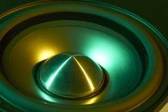 Colorful loudspeaker detail Stock Photo