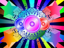 Colorful loudspeakers backgrounds Stock Image