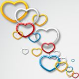 Colorful Love. Easy to edit vector illustration of colorful heart royalty free illustration