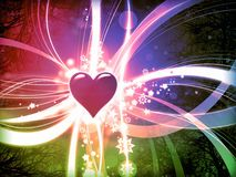 Colorful love abstract valentine background. Illustration Royalty Free Stock Photography