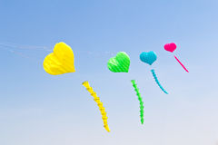 Colorful love heart kite Royalty Free Stock Photos