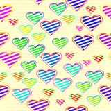 Colorful love heart in seamless background Stock Photography