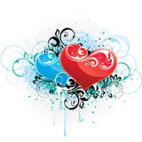 Colorful love hearts design Royalty Free Stock Photos