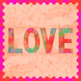 Colorful love letter card8 Stock Photography