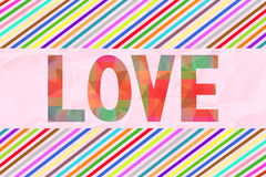 Colorful love letter card6 Royalty Free Stock Photos