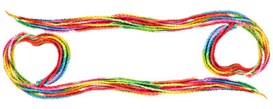 Colorful love rope frame. On white background Royalty Free Stock Photography