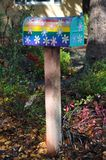 Colorful and lovely mailbox Stock Images