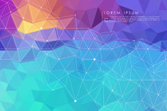 Colorful low poly abstract background. Vector royalty free illustration