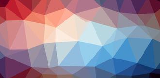 Colorful low polygon background Stock Image