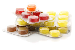 Colorful lozenges Stock Photos