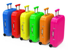 The colorful luggage Stock Image