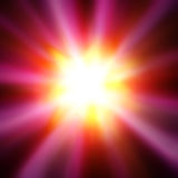 Colorful luminous rays Royalty Free Stock Photos