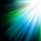 Colorful luminous rays. EPS 8 Stock Photography