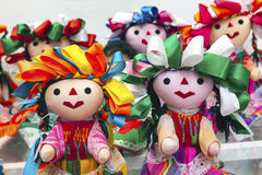 Colorful Lupita Dolls Mexico City Mexico Royalty Free Stock Photos