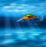 Colorful lure hunting underwater Royalty Free Stock Photo