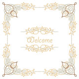 Colorful luxury border Royalty Free Stock Images