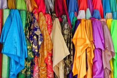 Colorful luxury and expensive clothes Royalty Free Stock Photo