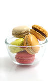 Colorful Macaron in close up Royalty Free Stock Photo