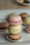 Colorful Macaron in close up Stock Photo