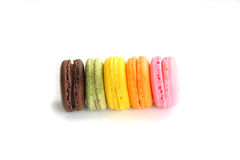 Colorful Macaron in close up Royalty Free Stock Photos
