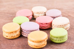Colorful macaron close up Stock Images