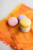 Colorful macaron cookies Royalty Free Stock Image