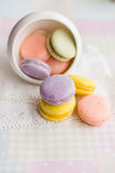 Colorful macaron cookies Stock Photo