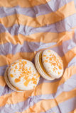 Colorful macaron cookies Royalty Free Stock Photography