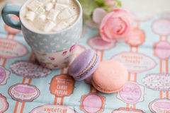 Colorful macaron cookies Stock Images