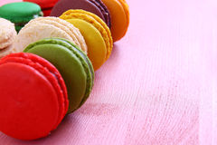 colorful macaron on pink background. Stock Images