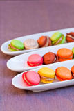 Colorful macaron on the plate Stock Image