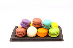 Colorful macaron on white background. Colorful of macaron on white background Stock Images