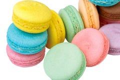 Colorful Macaron on the white background Stock Photo