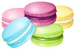 Colorful macaron on white Stock Photos