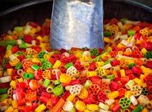 Colorful macaroni Stock Image