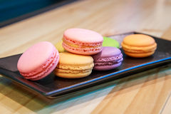 Colorful macarons royalty free stock image