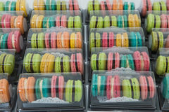 Colorful of Macarons in box Royalty Free Stock Photos