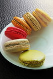 Colorful Macarons in the dish Royalty Free Stock Photo