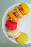 Colorful Macarons in the dish Stock Image