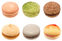 Colorful macarons isolated on white background Stock Photography