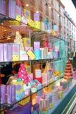 Colorful Macarons le Printemps Haussmann 库存照片