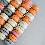 Colorful macaroons background. Royalty Free Stock Image