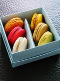 Colorful Macarons In The Paper Box Royalty Free Stock Image