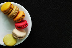 Colorful Macarons In The Paper Box Royalty Free Stock Images