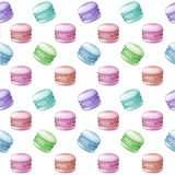 Colorful macarons pattern Royalty Free Stock Photography
