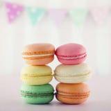Colorful macarons Stock Photos