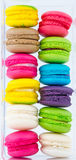 Colorful Macarons put in plastic package Stock Image