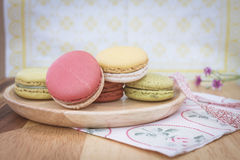 Colorful macarons in vintage tone Royalty Free Stock Images