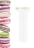 Colorful macaroon cake in a row Stock Image